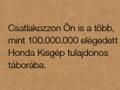 100 millió Honda kisgép